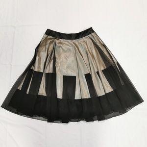 Grace Elements | A-Line Mesh Overlay Black Skirt